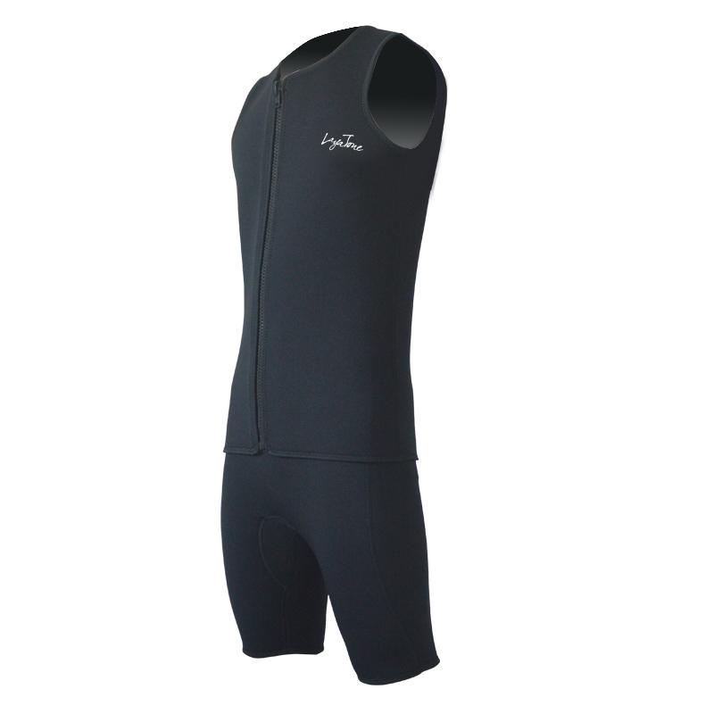 Layatone K1602U Black Warm Winter Diving Vest 3mm Neoprone Surfing Suit Wetsuits(China (Mainland))