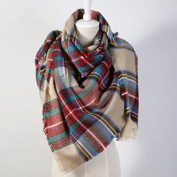 2017 Luxury Brand Women'S Scarf Soft Cashmere Blanket Warm in Winter Fashion Plaid Square Shawls  Size 140cm X 140cm Wholesale
