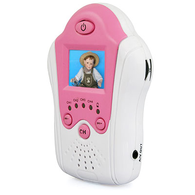 Free Shipping Pink Wireless Baby Monitor 2.4GHz digital video baby monitor/receiver 1.5 inch baby monitor with flower camera(China (Mainland))
