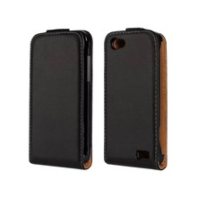 Genuine Leather flip case for HTC ONE V back cover cases PY(China (Mainland))