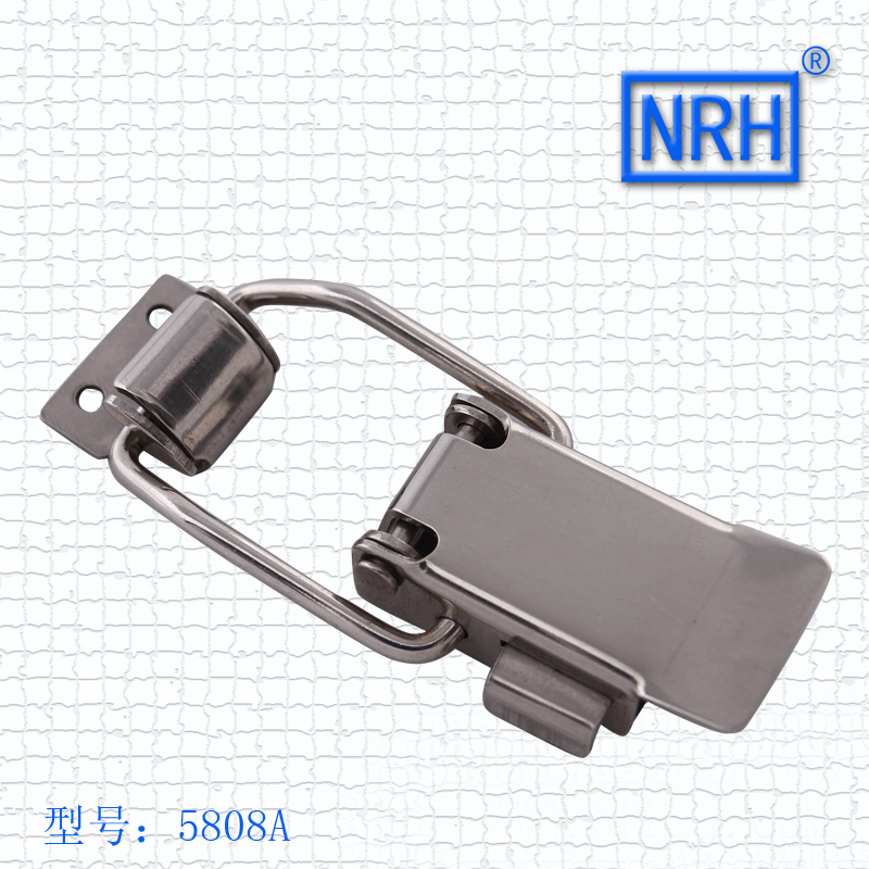 Luggage accessories 5808A Maide insurance stainless steel lock buckle 79.5*32mm NRH hardware wooden case hasp 12pcs/lot(China (Mainland))