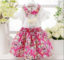 2015 Summer baby girls clothing sets children s clothing T shirt skirt girls 2 pieces clothes