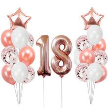 Ouro rosa 1 2 3 4 5 6 Ano Balões De Aniversário Decorações Da Festa de Aniversário Crianças Adulto 1st 2nd 18 21 30 40 50 60 Fontes do aniversário(China)