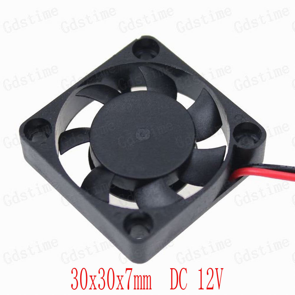 100 Pieces Lot GDT Small Brushless Cooling Cooler Fan 30x30x7mm 3CM 30mm 2pin DC 12v<br><br>Aliexpress