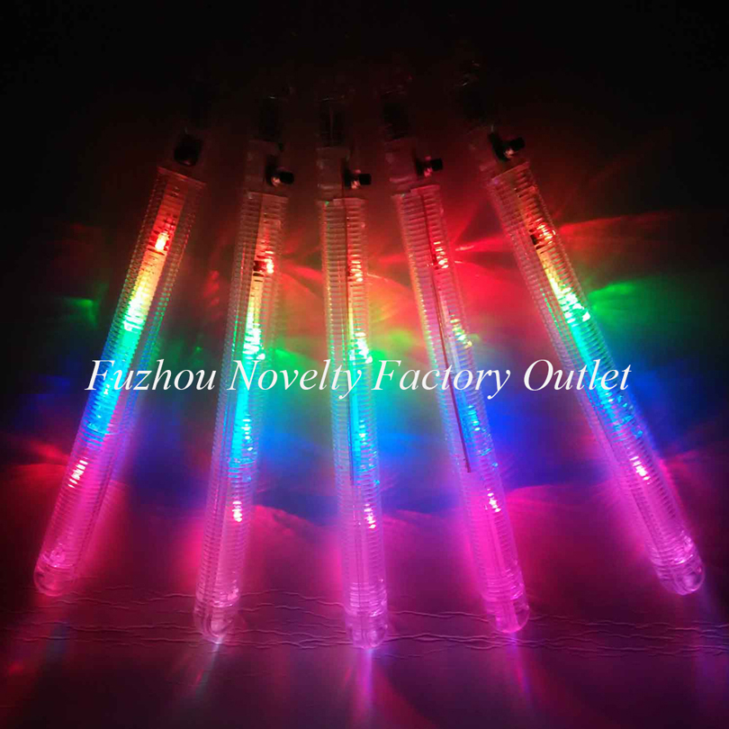 5pcs/lot Clear New Kid Party Favor Colorful Led Flashing Cotton Candy Floss Stick Light Up Novelty Toys Glow Cheering Stick(China (Mainland))