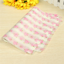 Best Price 21.8x 24.7CM 50 Sheets Colourful Wax Paper For Waterproof And Greaseproof Paraffin With Rose Flower Pattern(China (Mainland))