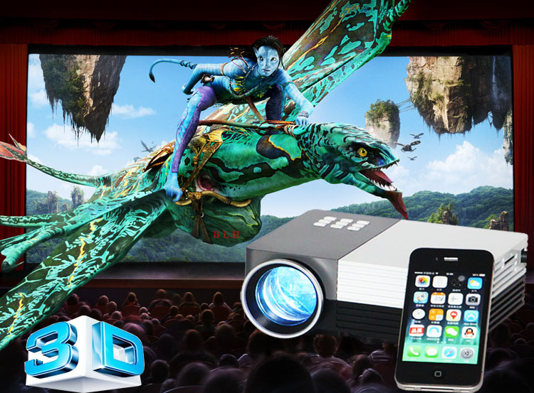Big Discount Newest 2014 LED Mini Video LCD 1080P 3D Home Theater Projector Full HD Beamer Projetor russia brazil