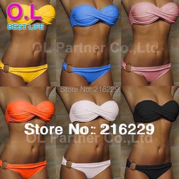 Новейшие модели женских купальников Secret Beach в размерах S M L и 10-ти цветах #OL054