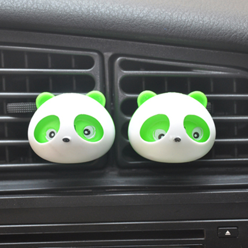 Car Perfume Air Freshener 5 Colors 100 Original Fragrance Air Conditioning Vent car styling Accessories Panda Eyes Will Jump(China (Mainland))