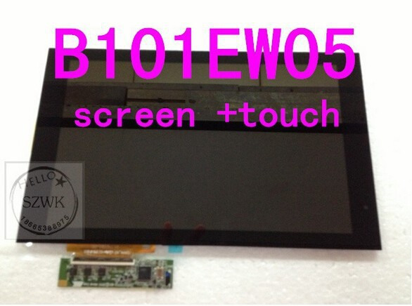 original Touch screen Digitizer Assembly For acer Tab A500 B101EW05 V.1 Full LCD Display +  free shipping<br><br>Aliexpress