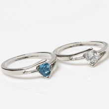 Hot Selling Charming Jewelery Accessories Korean Style Geometric Shaped Alloy Ring Color White Blue(China (Mainland))