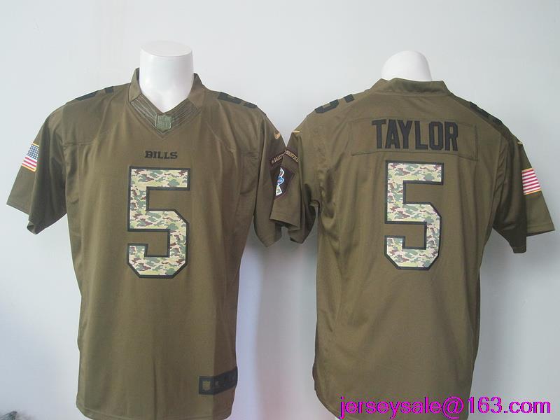 2016 Men Buffalo Bills #5 Tyrod Taylor 25 LeSean McCOY 100% Stitched, 14 Sammy Watkins Green Salute To Service Limited(China (Mainland))