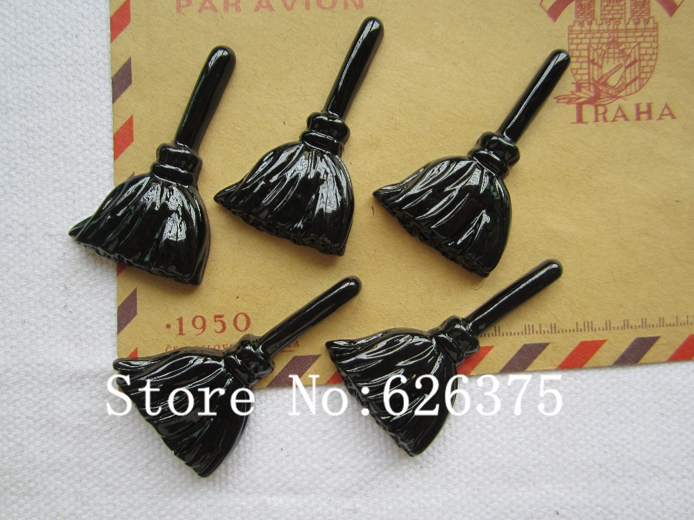 Rena!! Min.order $6 (mix order),New Ghost Brooms for Halloween Party for Hair Bow Center,Phone Deco DIY (22*38mm), Free Shipping(China (Mainland))