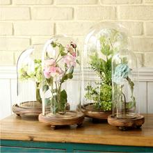 Free shipping Top Grade Hand-blown S/M/LDIY Crystal Table Flower Glass Cover Vase Desk Wedding Decor Cake Design No Inner Decor(China (Mainland))