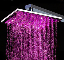 Square Showerhead 8″ Rain Shower Head – Color Changing
