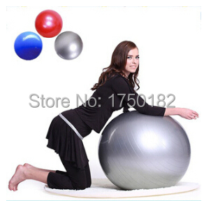 2015 Fashion Thicken Explosion-proof 75cm Yoga Ball Pilates Fitness Ball Slimming Exercise with Free Pump Free Shipping(China (Mainland))