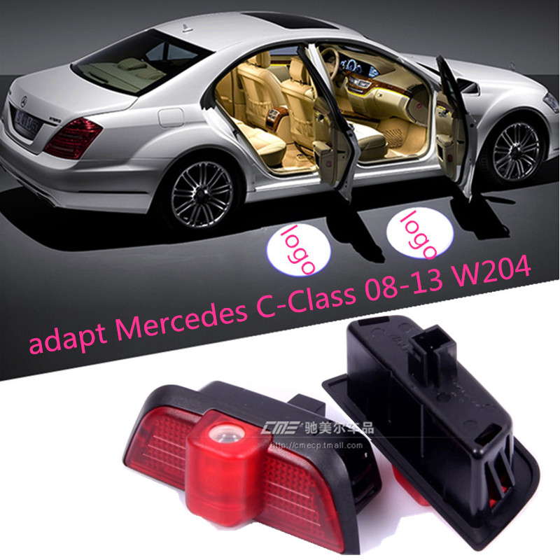 2x Ghost LED Door Step Courtesy Shadow Laser Light For Mercedes C-Class 08-13 W204(China (Mainland))