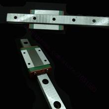 Kossel Mini MGN12 12mm Miniature Linear Rail Slide 1 Set=3pcs 12mm L-400mm rail+3pcs MGN12H carriage for X Y Z Axis 3D Printer