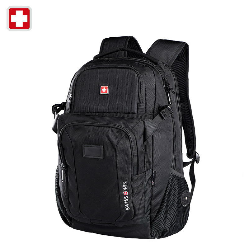 Swisswin swiss 2016 business laptop case 15.6 inch backpack men travel bags man casual bag for ipad sac courses mochila felt(China (Mainland))