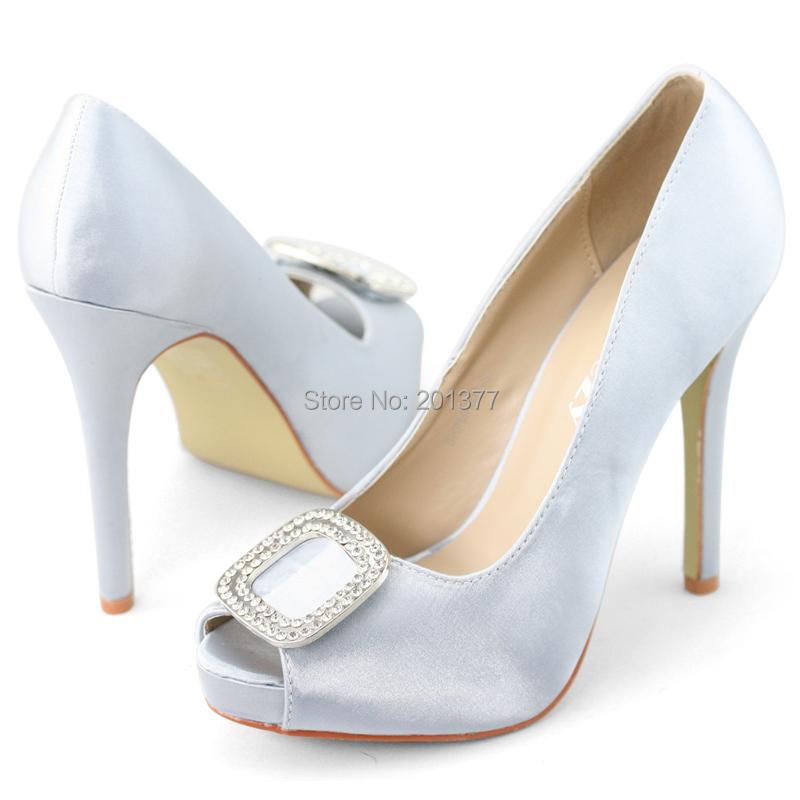 shoezy brand wedding dress shoes open peep toe satin
