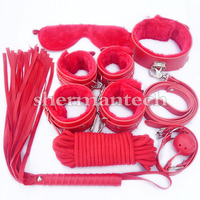 High quality erotic toy leather fetish bondage restraint sex product 7 pieces per set