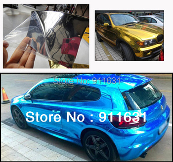 2PCS 1.52*60CM Germany Material Mirror Car Carbon Fiber Chrome Film Aluminum Phone Notebook Sticker Cover Air Channel
