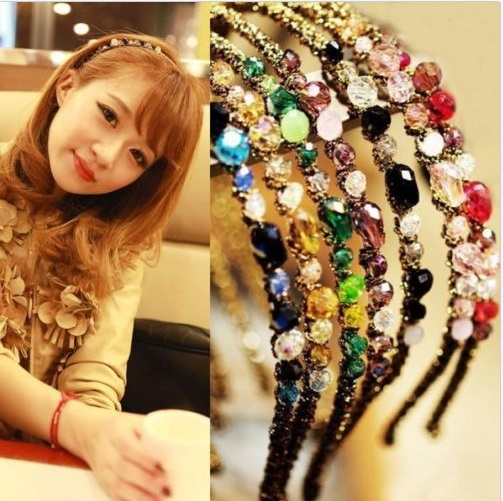New Fashion Women Girls Rhinestone Crystal Headband Delicate Glitter Hair Band 1 pc Free Shipping(China (Mainland))