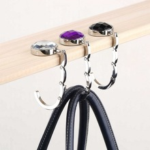 1pcs Folded Handbag Bag Hook Hanger Holder Alloy Fashion Crystal Rhinestone Hot Selling(China (Mainland))