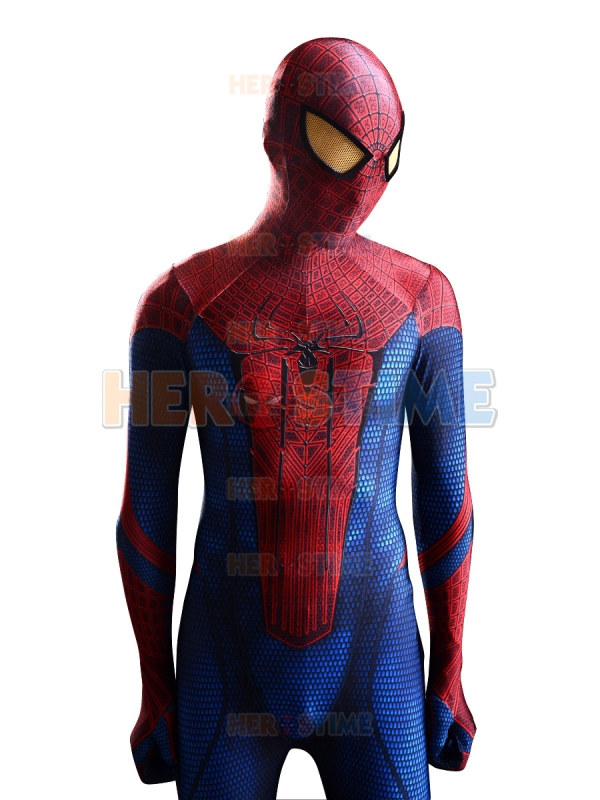 buy 2015 the amazing spider man costume 3d original movie halloween spandex. Black Bedroom Furniture Sets. Home Design Ideas