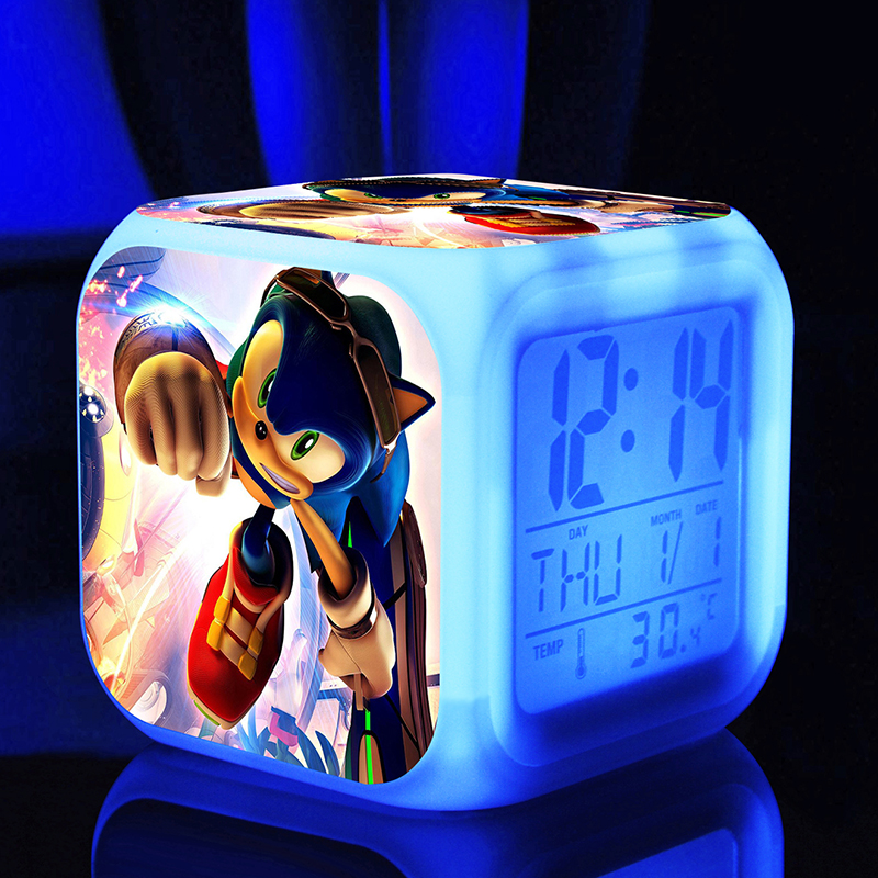 Sonic Hedgehog cartoon game action figure LED 7 colors changes kids toys classic toys super sonic supersonic