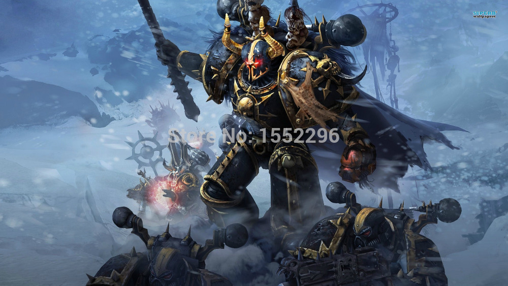 Hot Game Warhammer 40k space marines Home Decoration Wallpaper Custom Cartoon Poster High Quality WallSticker Free Shipping #039(China (Mainland))