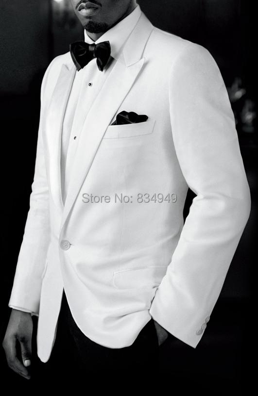 Custom Made To Measure White Wedding Tuxedos For Men ...  Custom Made To ...
