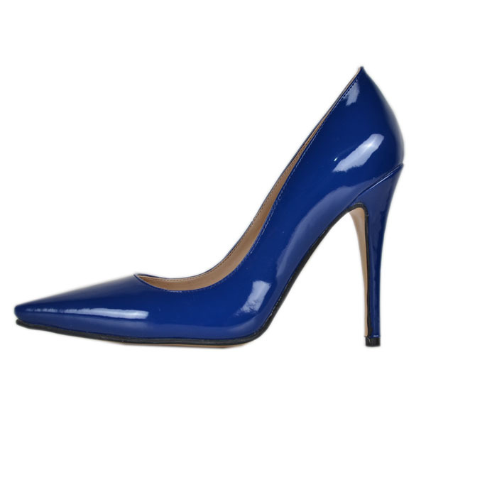 Royal Blue Dress Shoes For Women Slip-ons Pointed Toe Stilettos Thin High Heel OL Sandals Patent Leather Ladies Pumps 2015 <br><br>Aliexpress