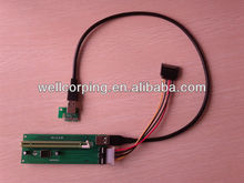 Wholesale Quality PCI-E PCI Express Riser 1X to 16X usb 3.0 For Bitcoin Litecoin Mining Graphics card With Power Supply