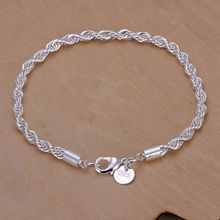 925 jewelry silver plated  jewelry bracelet fine fashion bracelet top quality wholesale and retail SMTH207(China (Mainland))