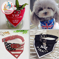 New arrivals hot various pattern Pets Dogs cats Neck Scarf Collar Adjustable Puppy dog Bandana Pet