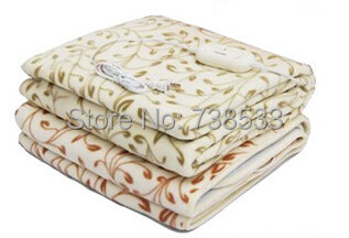 High-grade Plush Heated Blanket Double Electric Blanket Waterproof Safety Thermostat Electric Heating Blanket 150 * 120cm(China (Mainland))