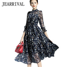 Buy 2017 New Spring Summer Women Dress Runway Style Elegant Ladies Vintage Floral Print Maxi Dress Long Chiffon Beach Dress Vestidos for $21.85 in AliExpress store