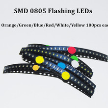 Buy 600pcs Flash 0805 LED Diode Mixed Orange / Red / Jade-Green / Blue / Yellow / White 0805 SMD LEDs Blinking Flashing LED Diod for $19.05 in AliExpress store