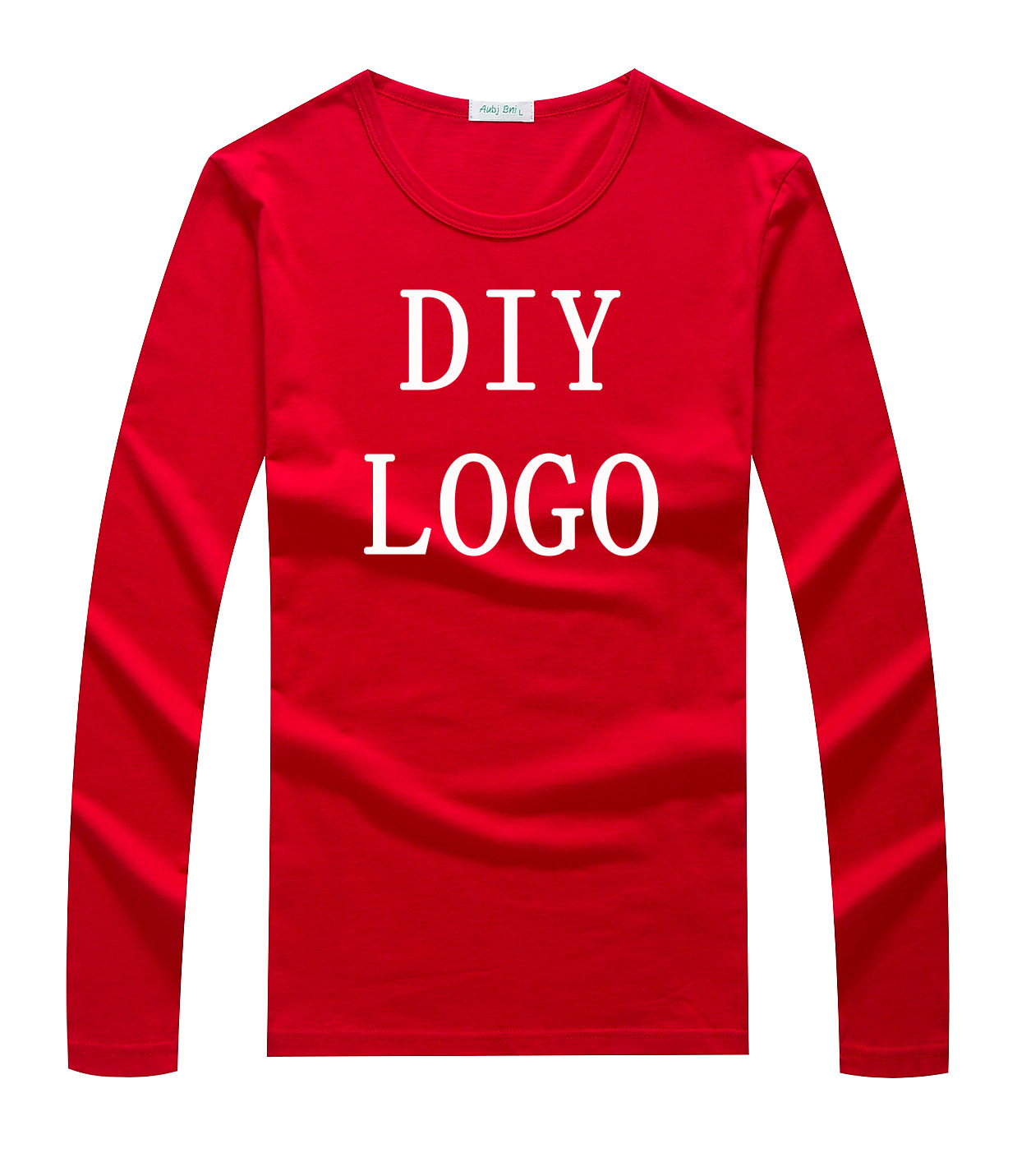 Custom logo long sleeve shirt plain LOGO DIY tshirt customized pattern print embroidery design your owner t-shirt top tee shirts(China (Mainland))