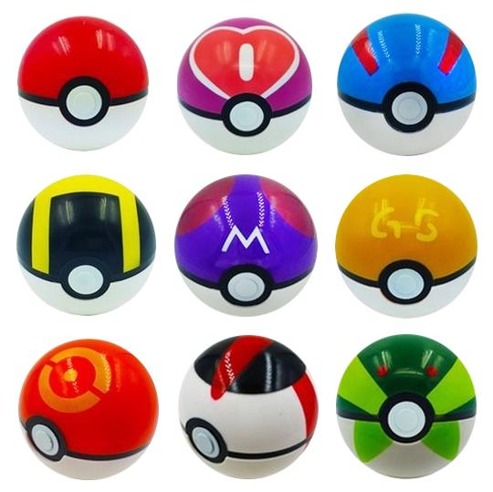 Pokemon Ball Figures 3pcs/set Large size ABS action Anime Figures Pokeball The Doll ornaments Cute toys Kids Gift 1005(China (Mainland))