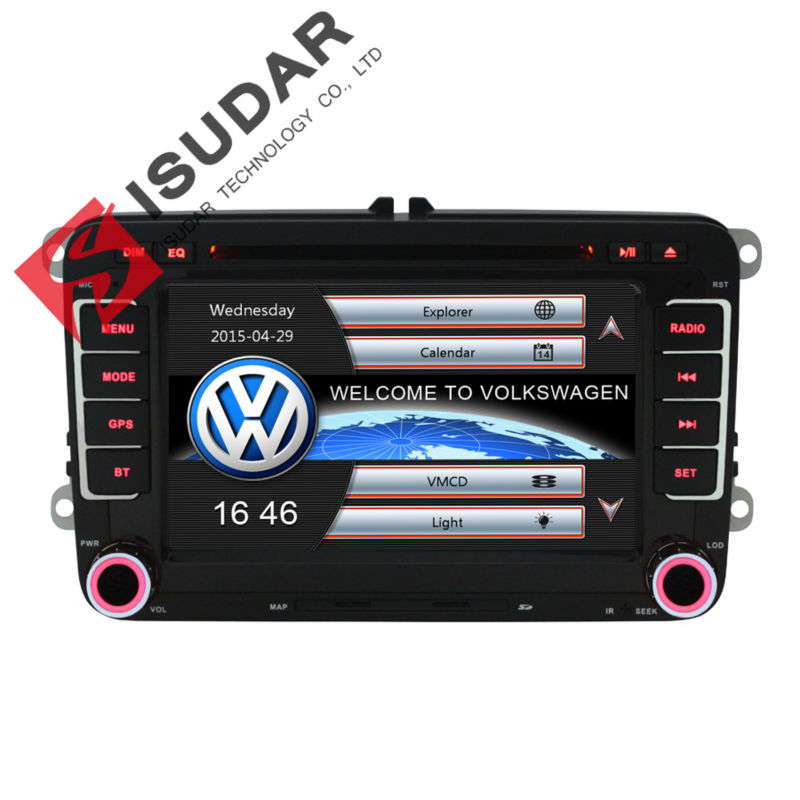 Two Din 7 Inch Car DVD Player For VW/Volkswagen/POLO/PASSAT/Golf/Skoda/Seat With Wifi 3G Host Radio GPS Bt 1080P Ipod RDS Map(China (Mainland))