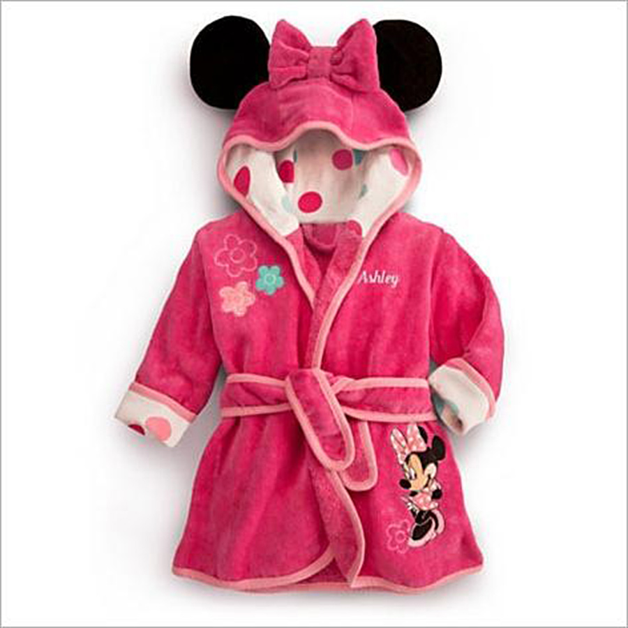 Hot Sale 2016 Cute Kids Pajamas Robe children's bathrobe cartoon coats clothes Baby homewear clothing boys girls clothes(China (Mainland))