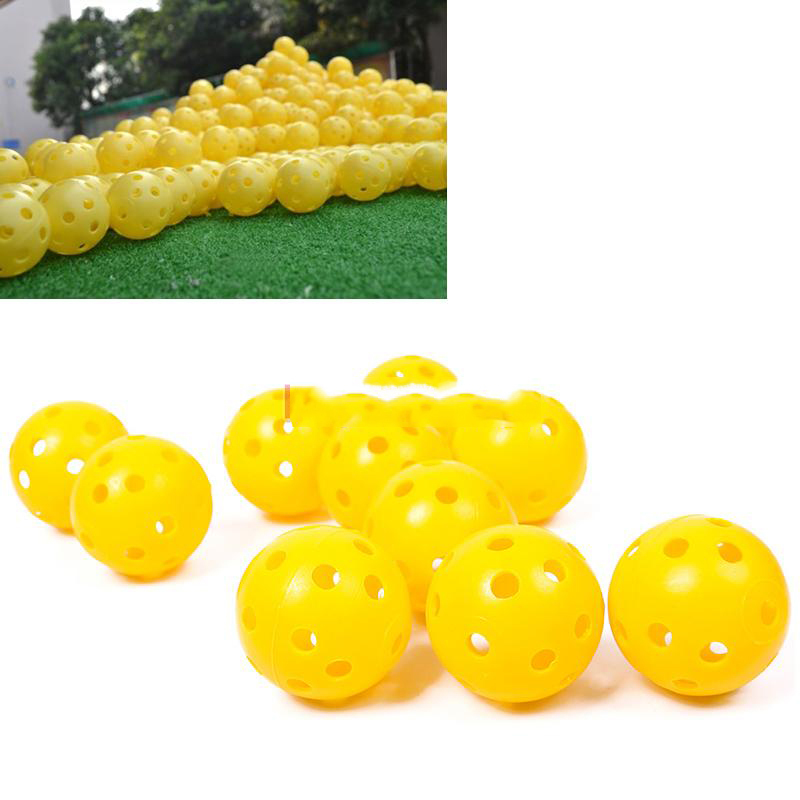 MiniSale Fashionable! 2Pcs Light Airflow Hollow Perforated Plastic Golf Practice Training Balls Underspend!(China (Mainland))