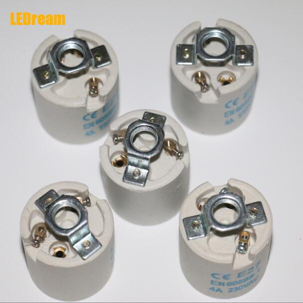 CE E26 E27 brass lamp holder led stent self-locking type printing copper ceramic e27 scoket for dinning room bedroom(China (Mainland))