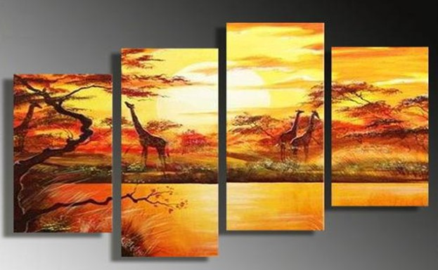 Painting African Animals Animals Oil Painting on