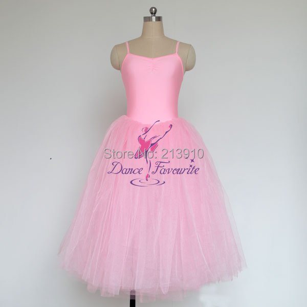 Long romantic ballet tutu pink, white, light sea blue, Adult - Dance Favourite store