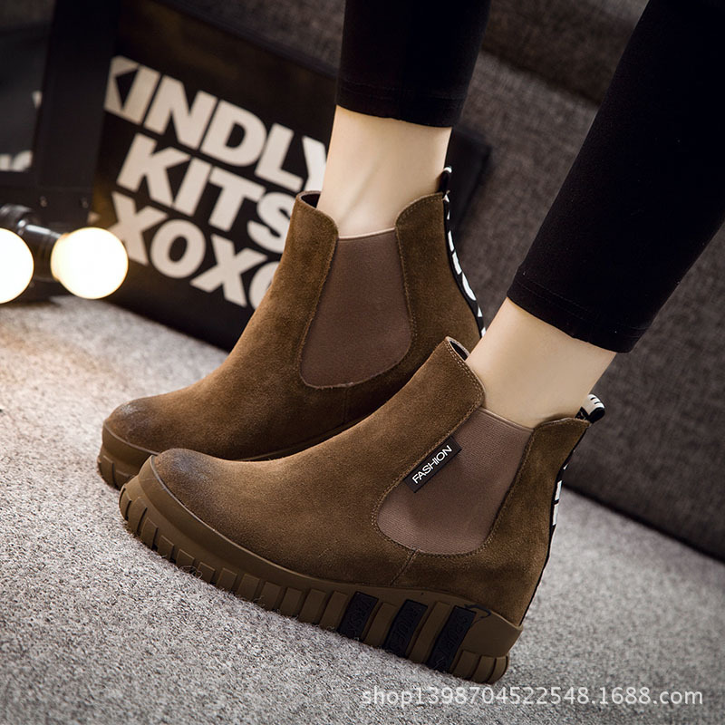 BOOTS / 2015 new winter / explosion models / Martin boots increase / leather boots / round wedges / shoes woman / within<br><br>Aliexpress