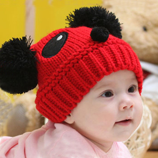 Fashion Lovely Character Panda Cap Baby Winter Acrylic Casual Unisex Knitted Caps Kids Wholesale and Retail(China (Mainland))