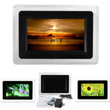 CE Certificated 7Inch TFT LCD Digital Photo Movies Frame Wide Screen Desktop With LED Light Flash MP3 MP4 Player Alarm Clock(China (Mainland))